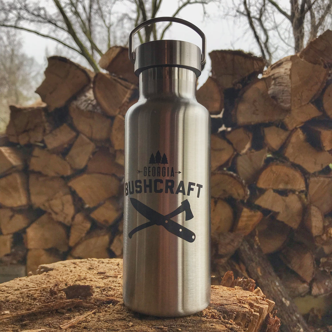 Georgia Bushcraft 17oz Stainless Steel Water Bottle
