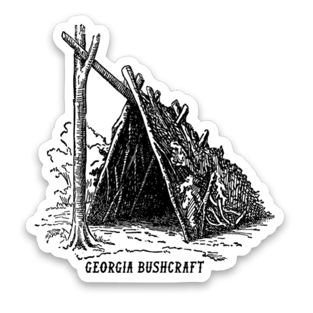 Bushcraft Shelter Sticker