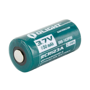Olight RCR123A 650mAh 3.7V Protected Lithium Ion (Li-ion) Button Top Battery