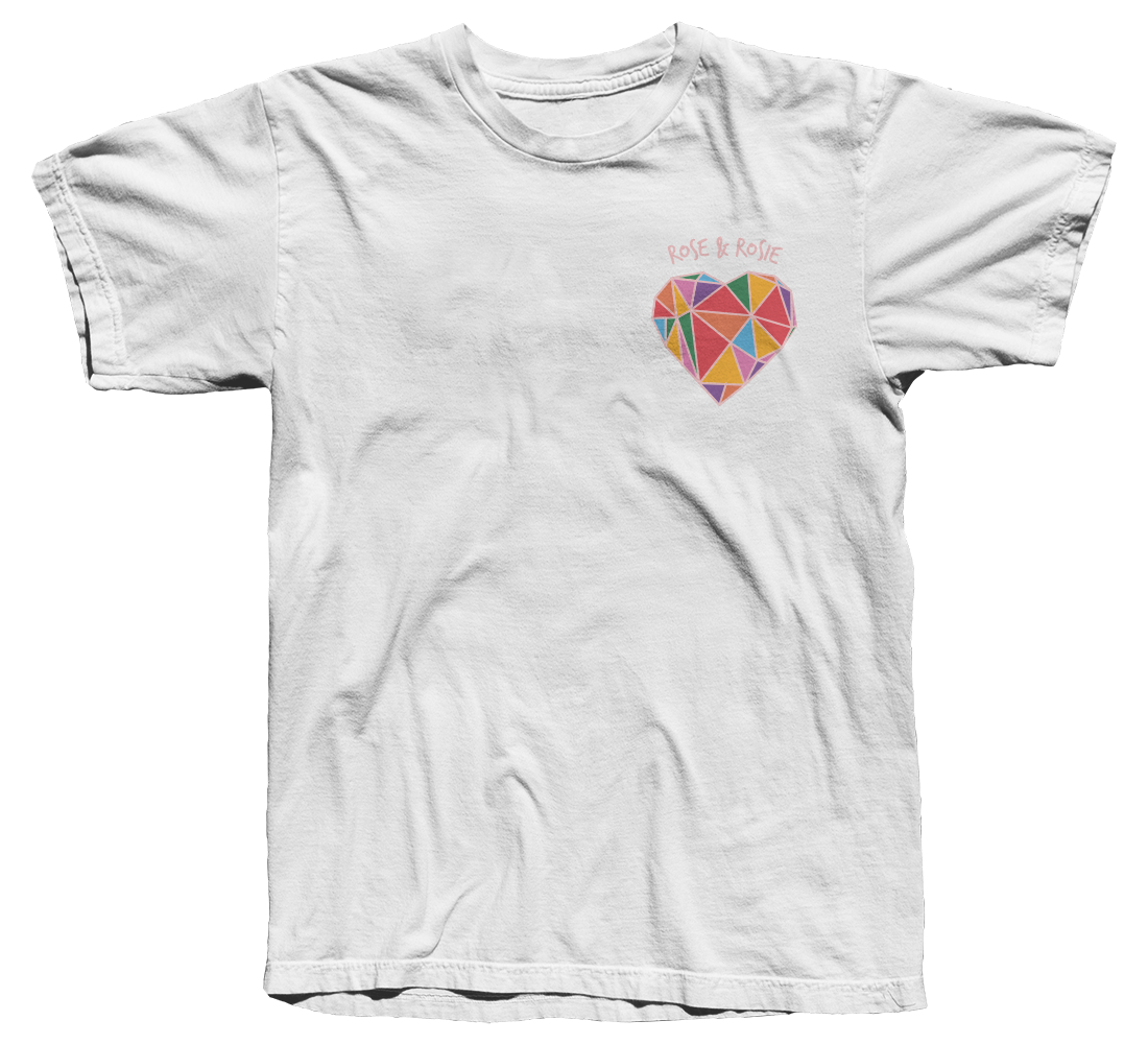 Geometric Rainbow Heart T-Shirt