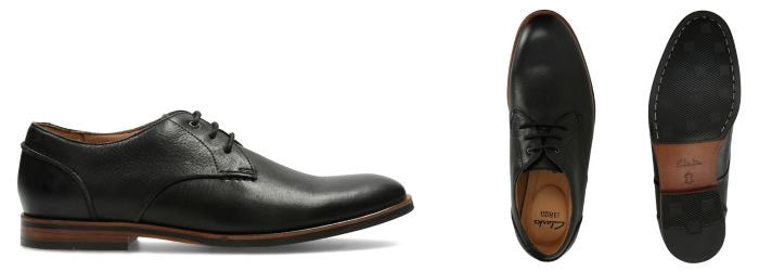 clarks black dress shoes