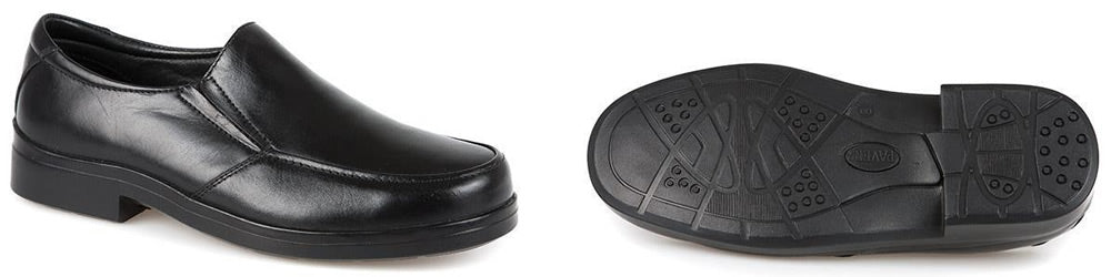 Pavers Extra Wide Dual Fit Leather Slip On eadf1a0a259