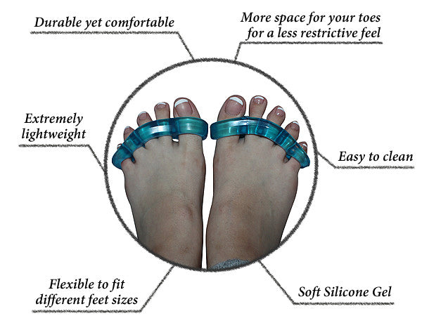 Home Gel Toe Separators by Feet&Feet