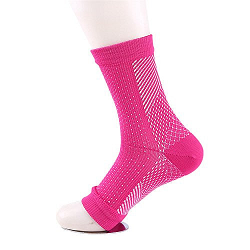 FlowRevive Open Toe Ankle Compression Socks - Pink