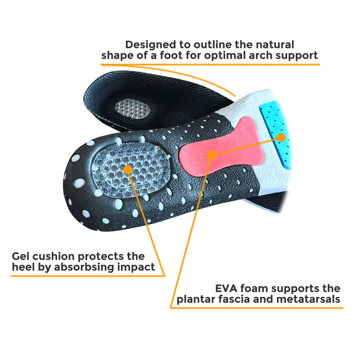SoleRelief Trimmable Arch Support Insoles