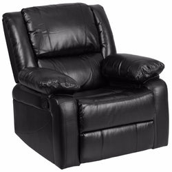 Harmony Series Black Leather Recliner-Cave Room Furniture