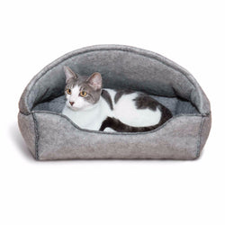 Amazin' Kitty Lounger Hooded Gray-Cave Room Furniture
