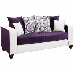 Riverstone Implosion Purple Velvet Sofa