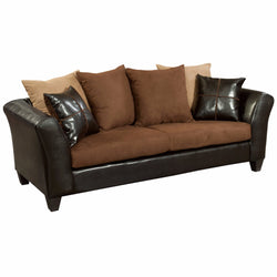 Riverstone Sierra Chocolate Microfiber Sofa-Cave Room Furniture