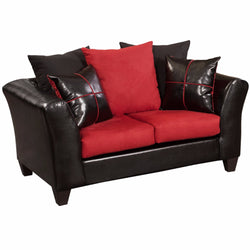Riverstone Victory Lane Cardinal Microfiber Loveseat-Cave Room Furniture