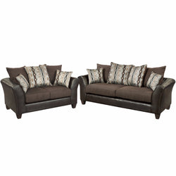 Riverstone Rip Sable Chenille Living Room Set-Cave Room Furniture