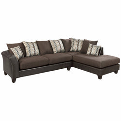 Riverstone Rip Sable Chenille Sectional-Cave Room Furniture