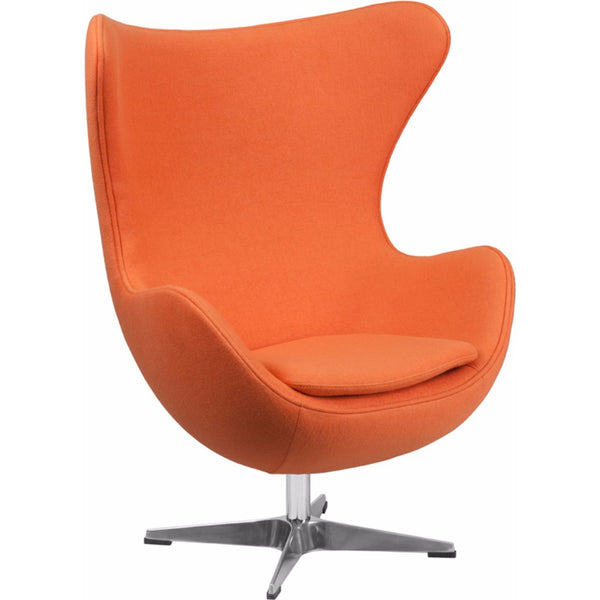 Wool Fabric Egg Chair with Tilt-Lock Mechanism-Cave Room Furniture