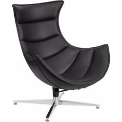 Leather Swivel Cocoon Chair-Cave Room Furniture