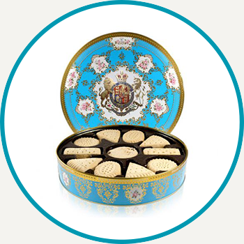 Coat Of Arms Shortbread Biscuit Tin