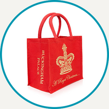 Load image into Gallery viewer, Buckingham Palace Christmas Juco Bag