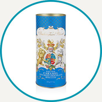 Buckingham Palace Salted Caramel And Chocolate Biscuit Tube