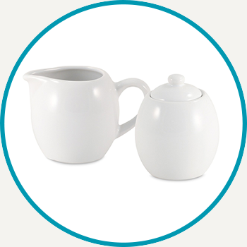 Milk & Sugar Set - White