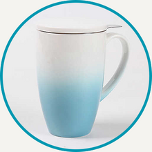 Load image into Gallery viewer, Blue Horizon Mug with Infuser & Lid