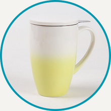 Load image into Gallery viewer, Yellow Horizon Mug with Infuser & Lid