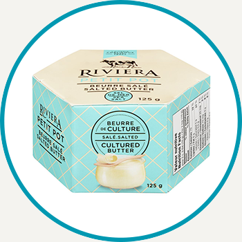 Riviera Salted Cultured Butter, 125g