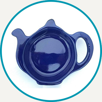 Cobalt Betty Teapot Tea Bag Rest