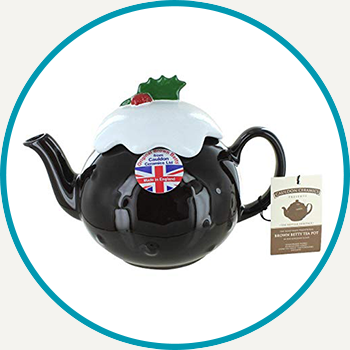 Christmas Pudding Brown Betty Teapot (6 Cup)