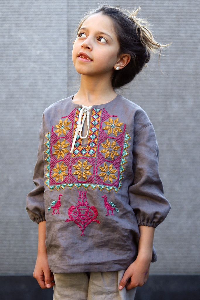 Girls Embroidered Blouse