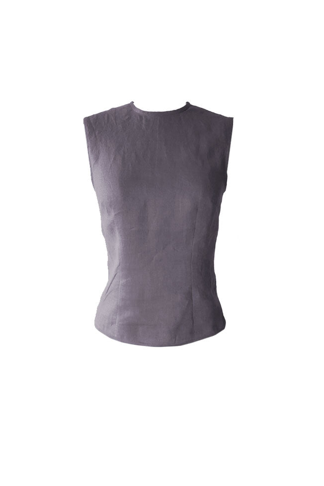 Fitted Sleeveless Basic Top