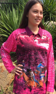 Cowgirl Pink - Fishing shirt -quick dry - uv rated