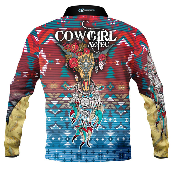 Cowgirl Aztec Polo Shirt