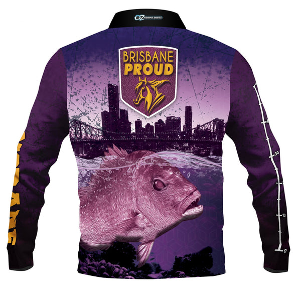 Brisbane Broncos Fishing  -Fishing shirt -Quick dry - Uv rated