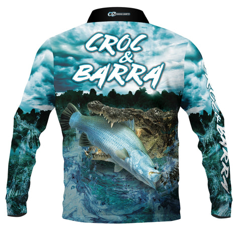 Croc & Barra Polo Fishing shirt - quick dry - UV rated