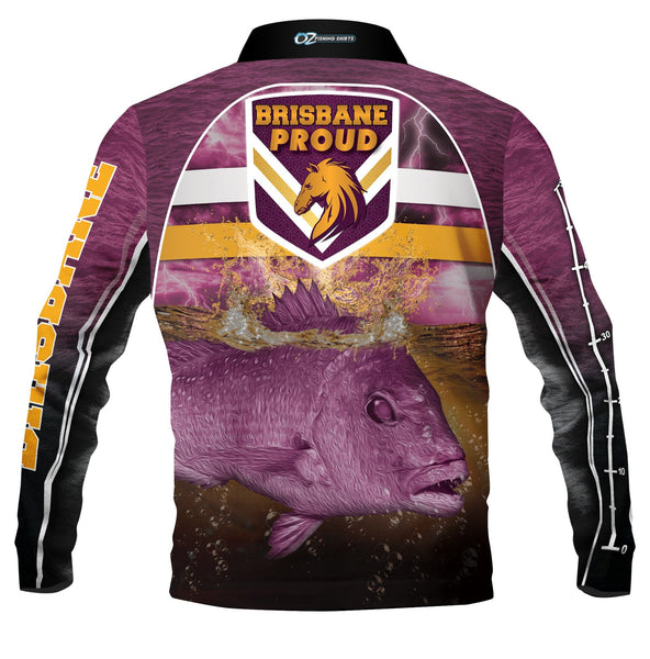 Brisbane Broncos 2020 Fishing  -Fishing shirt -Quick dry - Uv rated
