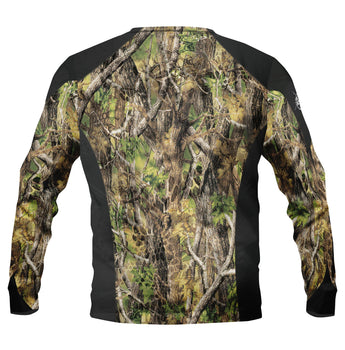 One Shot Camo -Round Neck Fishing shirt -Available in March quick dry - UV rated