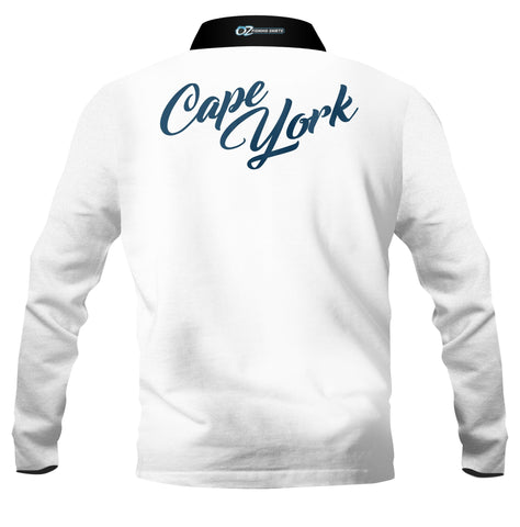 Cape York White -Fishing shirt -quick dry - uv rated