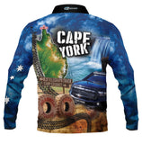 Kids Wear Cape York Blue -Fishing shirt -quick dry - uv rated