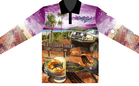Kids wear Cape York 2020 Purple -Fishing shirt -Quick dry - Uv rated