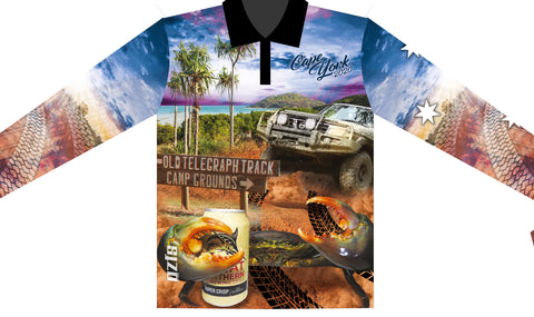Cape York blue 2020   -Fishing shirt -quick dry - uv rated