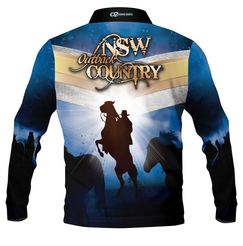 Outback Country New South Wales - Fishing shirt - quick dry - UV rated