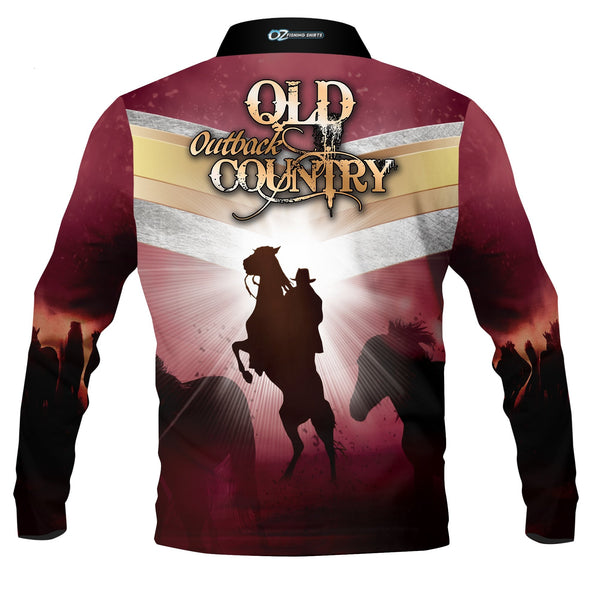 Outback Country Queensland - Fishing shirt - quick dry - UV rated