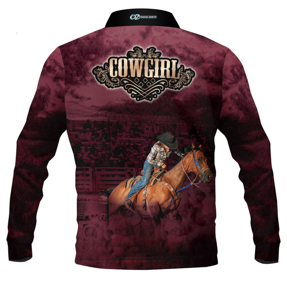 Cowgirl Maroon - Fishing shirt - quick dry - UV rated