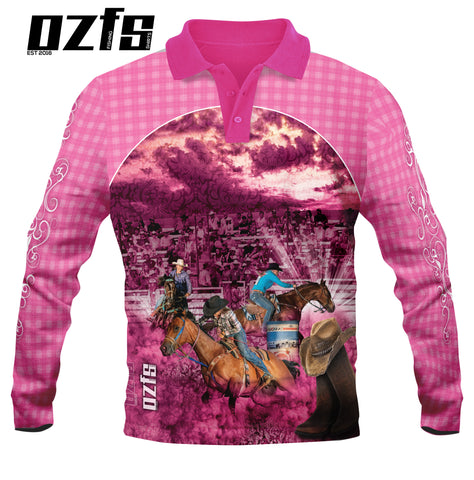 Kids Wear Cowgirl Pink  - Fishing shirt - Quick dry - UV rated