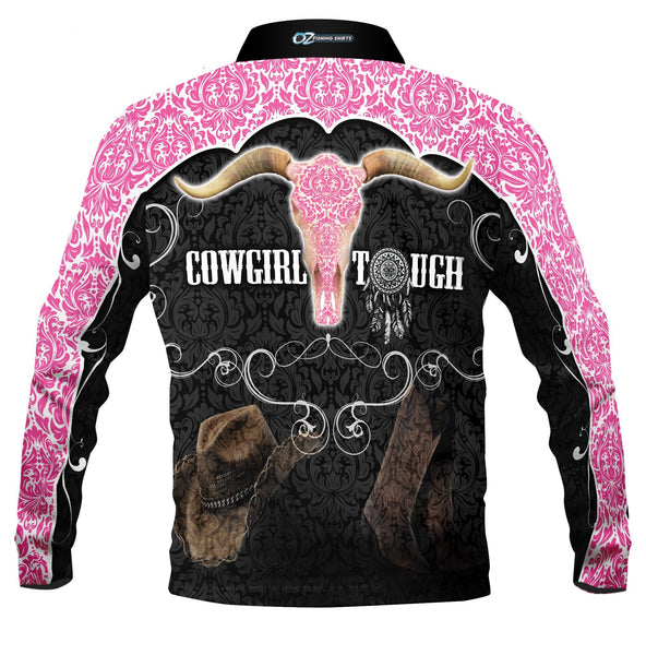 Cowgirl Tough Pink  -Fishing shirt -quick dry - uv rated