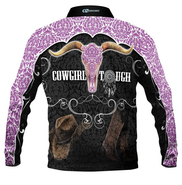 Cowgirl Tough Purple  -Fishing shirt -quick dry - uv rated