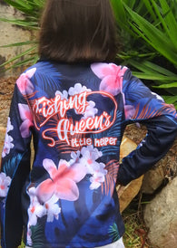 Kids Wear Fishing Queen Little helper  -Fishing shirt -quick dry - uv rated