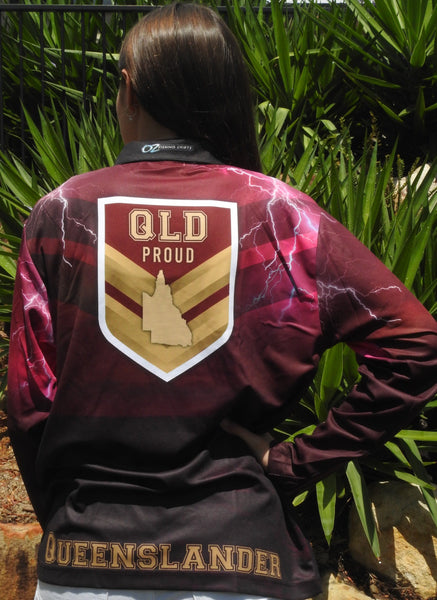 Qld Proud Fishing  -Fishing shirt -Quick dry - Uv rated