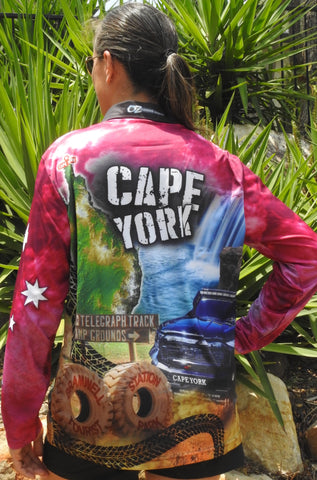 Kids Wear Cape York Pink -Fishing shirt -quick dry - uv rated