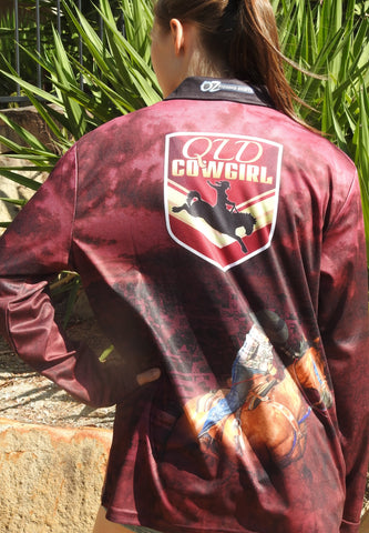 Qld Cowgirl -Fishing shirt -quick dry - uv rated