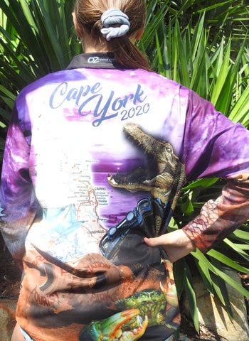 Cape York 2020 Purple  -Fishing shirt -quick dry - uv rated